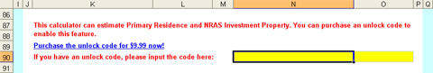 How to unlock PPOR & NRAS investment property calculations
